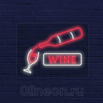 Неоновая вывеска для виноого магазина