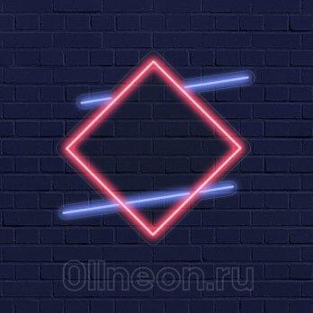 Неоновая вывеска квадрат