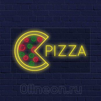 Неоновая вывеска пицца Ollneon