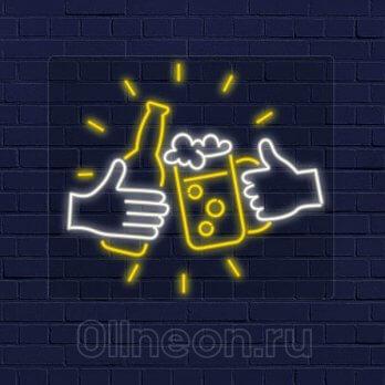 Неоновая вывеска Пиво для компании