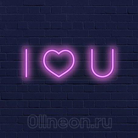Неоновая вывеска светильник Любовь