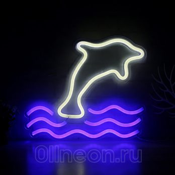 неоновый ночник Дельфин