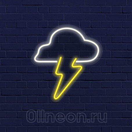 Неоновый светильник Грозовые облака