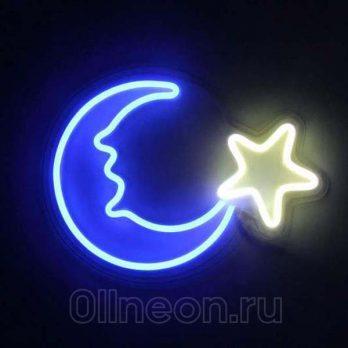 Неоновый светильник Месяц