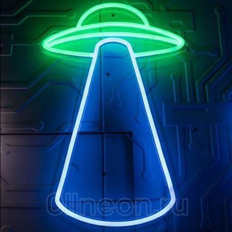 Неоновый светильник НЛО