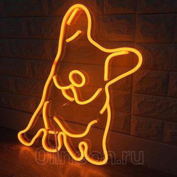 Неоновый светильник Пёс