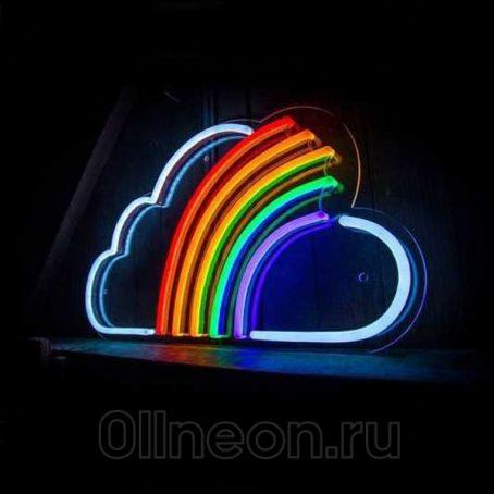 Неоновый светильник Радуга на облаке