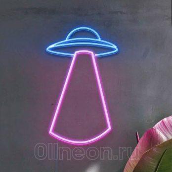 Неоновый светильтник Нло